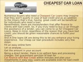 Cheapest Car Loan.ppt