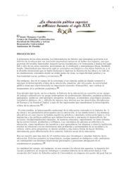 Educacion en México Siglo XIX y XX.doc