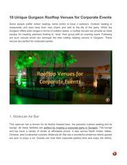 10 Unique Gurgaon Rooftop Venues for Corporate Events.pdf
