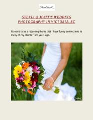 SYLVIA & MATT'S WEDDING PHOTOGRAPHY IN VICTORIA, BC.pdf